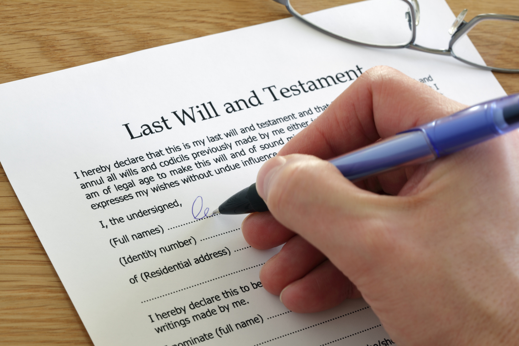 age to write a will