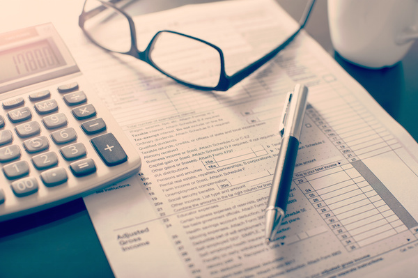 Income tax return form on desk, Florida tax attorneys