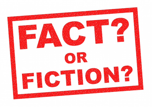 Fact or fiction stamped on white background, estate planning facts, estate planning attorney
