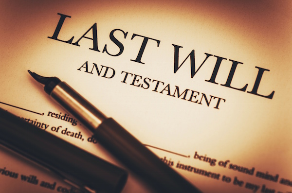 Last will and testament document with pen, up close photo, wills in Florida, France Law Firm